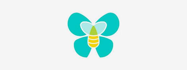 Logo Abeille et papillon